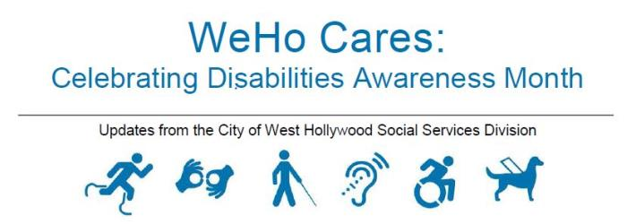 WeHo Cares Newsletter Image
