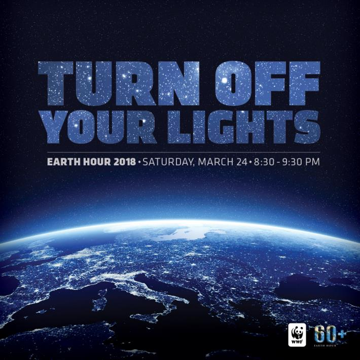 City Joins Earth Hour 2018; Lights will be Dimmed at West Hollywood City Hall for One Hour on Saturd...