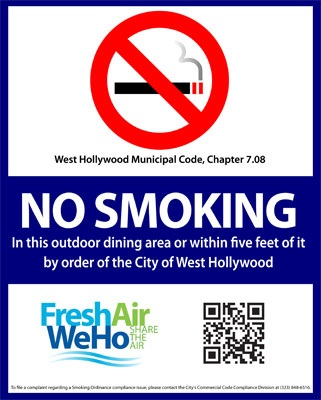smoking ordinance sign