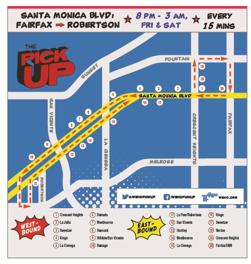 WehoPickup Map Small