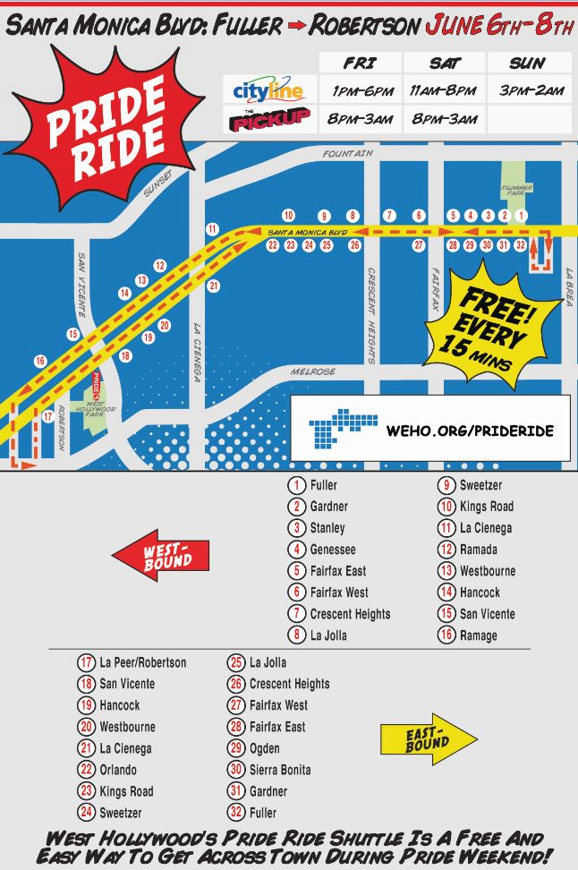 Pride Ride Map