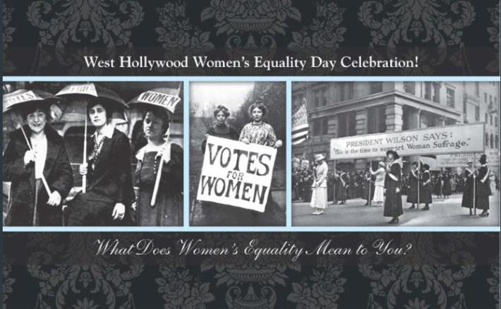 City of West Hollywood to Host Women's Equality Day Celebration on Aug. 26