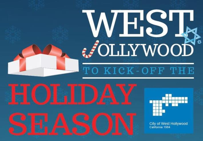 """West Jollywood"" is the City of West Hollywood's Jolly Theme for the 2014 Holiday Season"