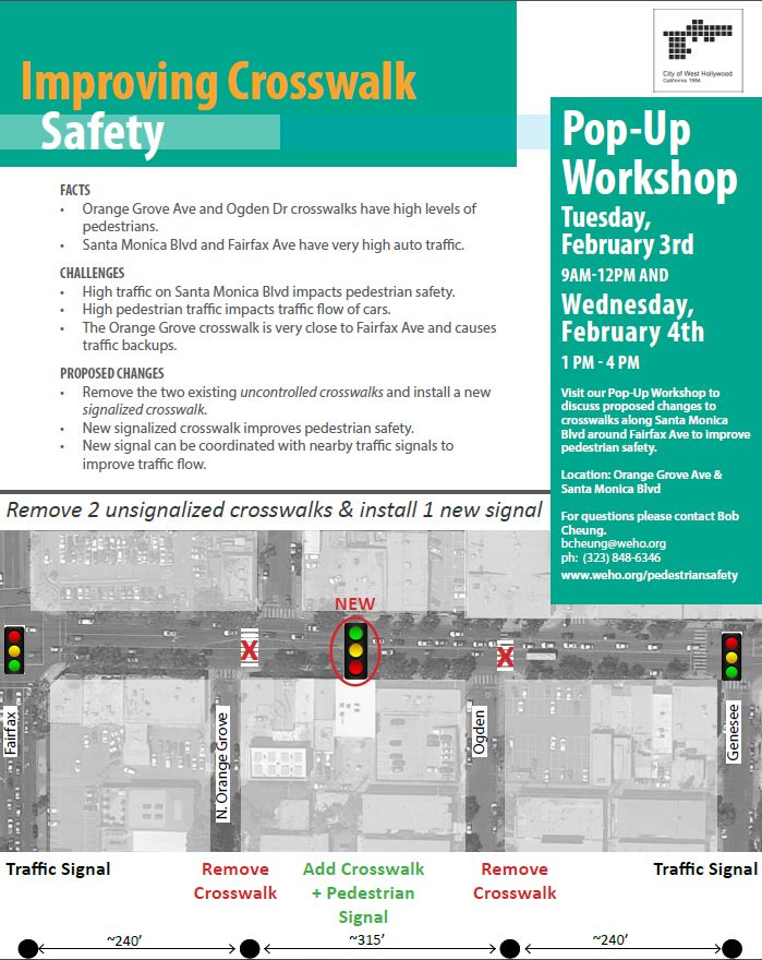 Crosswalk Safety Improvement Pop-Ups to Take Place in February
