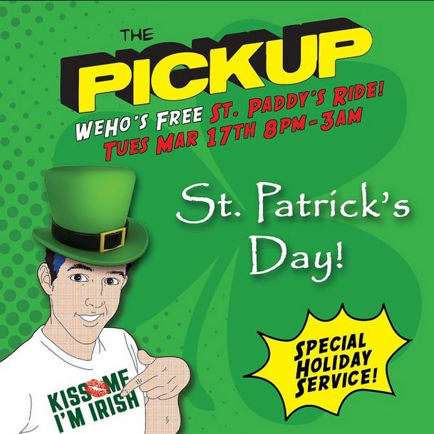 City of West Hollywood's PickUp Celebrates St. Patrick's Day