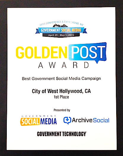 City Wins Top Government Social Media Award for Alice in WeHoLand YouTube Video