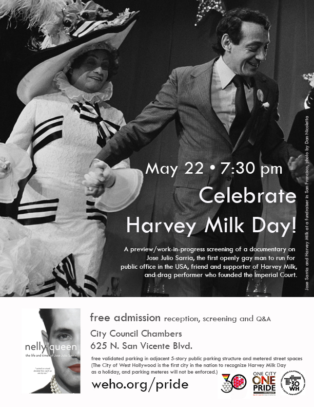 Harvey Milk Day - Nelly Queen Movie Flyer