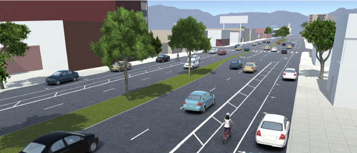 FAIRFAX AVENUE BICYCLE LANE PROJECT