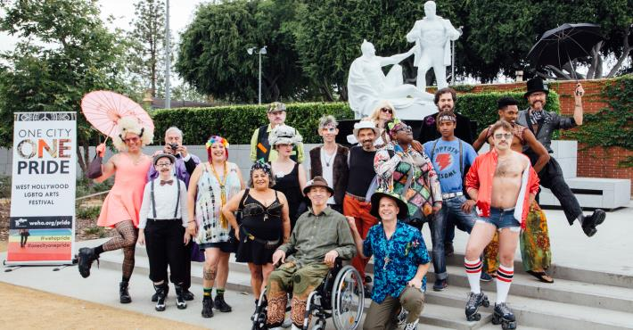 June 4 - Stuart Timmons LGBTQ History Tour - Photo of entire cast by Tony Coelho cropped