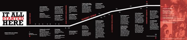 Sunset Strip Map and Brochure