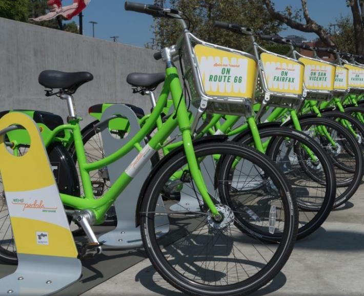 WeHo Pedals Now Rolls Past City Boundaries as Part of Westside 'Bike Share Connect' Network