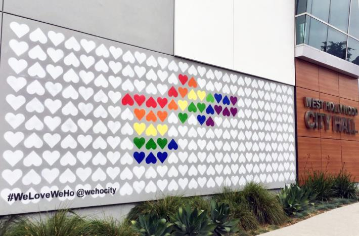 City of West Hollywood Shares the Love With the #WeLoveWeHo Wall at City Hall