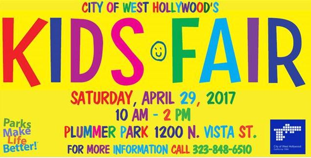City of West Hollywood to Host 22nd Annual Kids Fair