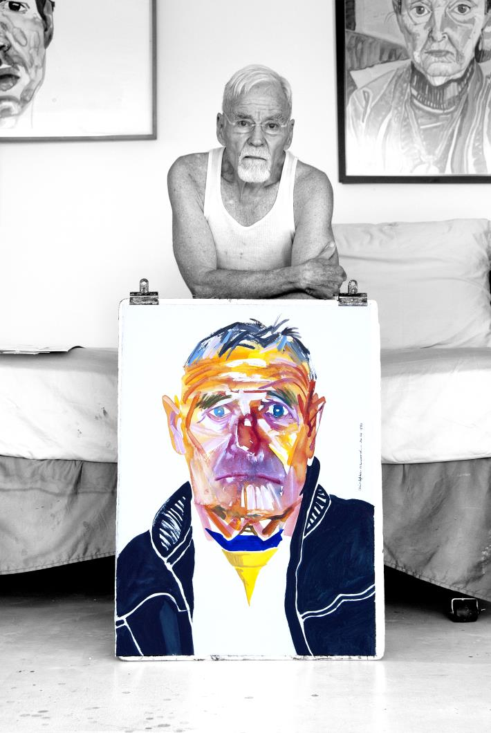 Exhibition - Adelaide Drive - Don Bachardy with portrait of Christopher Isherwood, photo credit Wayne Shimabukuro