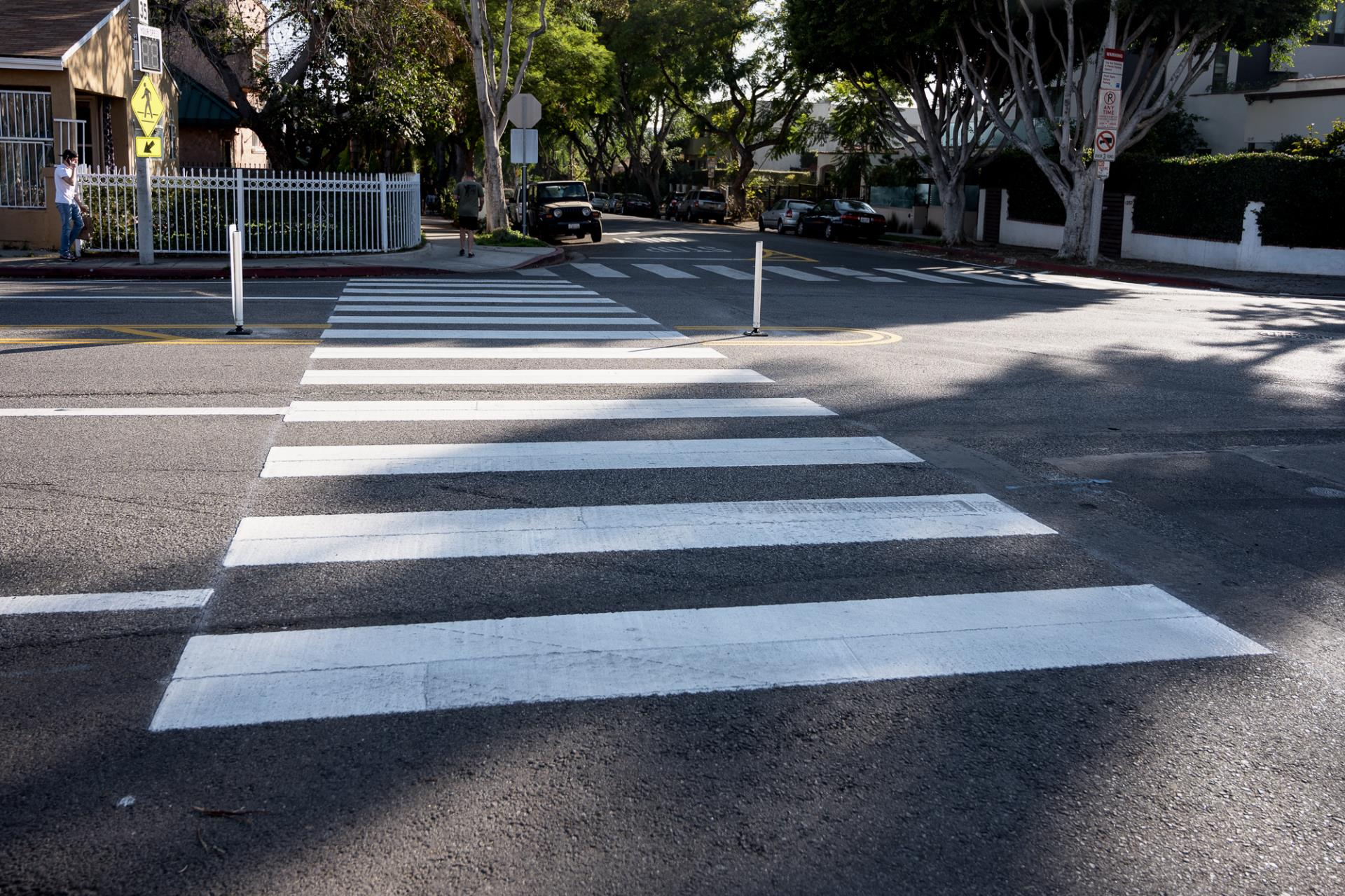 City Installs New Safety Treatments on Fountain Avenue