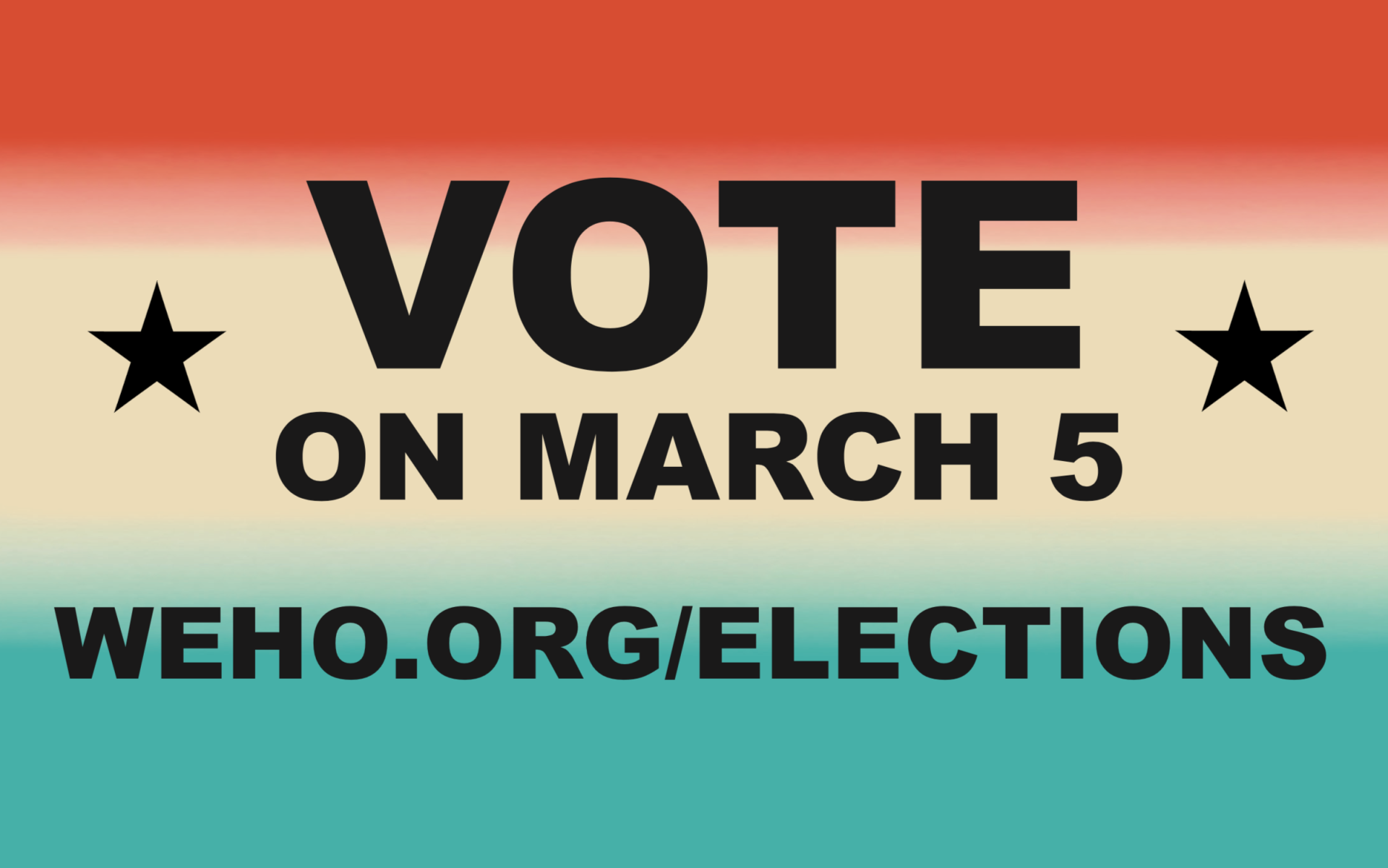 City of West Hollywood General Municipal Election Will Take Place on Tuesday, March 5