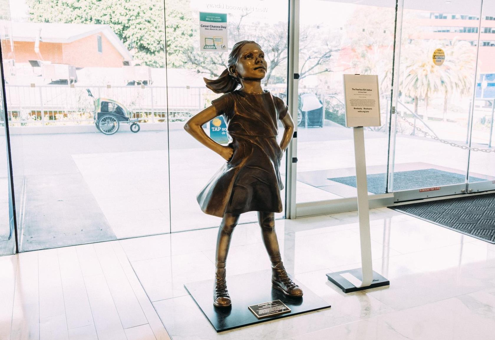 City Presents a Women's History Month Special Exhibition: The Fearless Girl Statue by Kristen Visbal