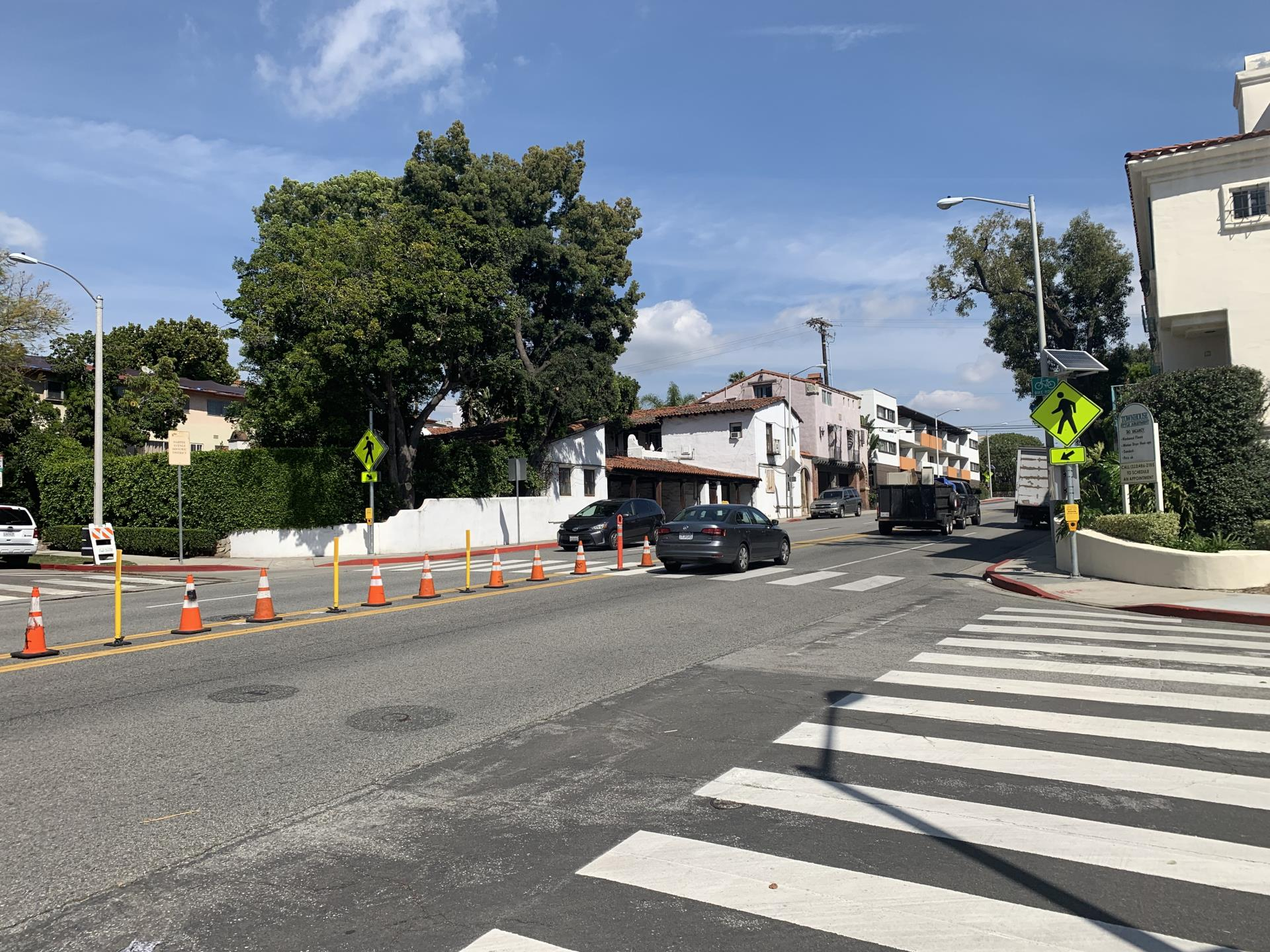 City Completes Fountain Avenue Pedestrian Safety Improvements at Five Crosswalks