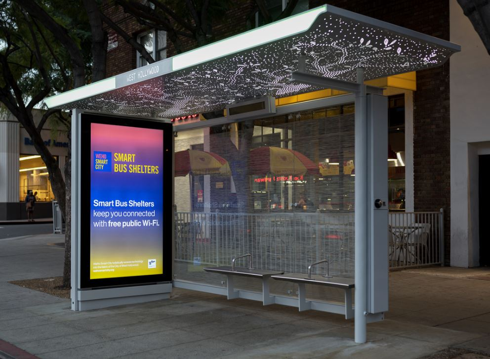 City Debuts 'Smart' Bus Shelter and Bus-Stop Prototypes at Two Locations on Santa Monica Boulevard