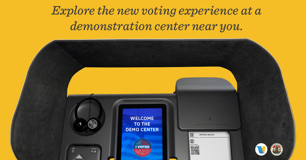 City to Host LA County Voting Experience 'Demonstration Center' at Plummer Park's Great Hall throughout October