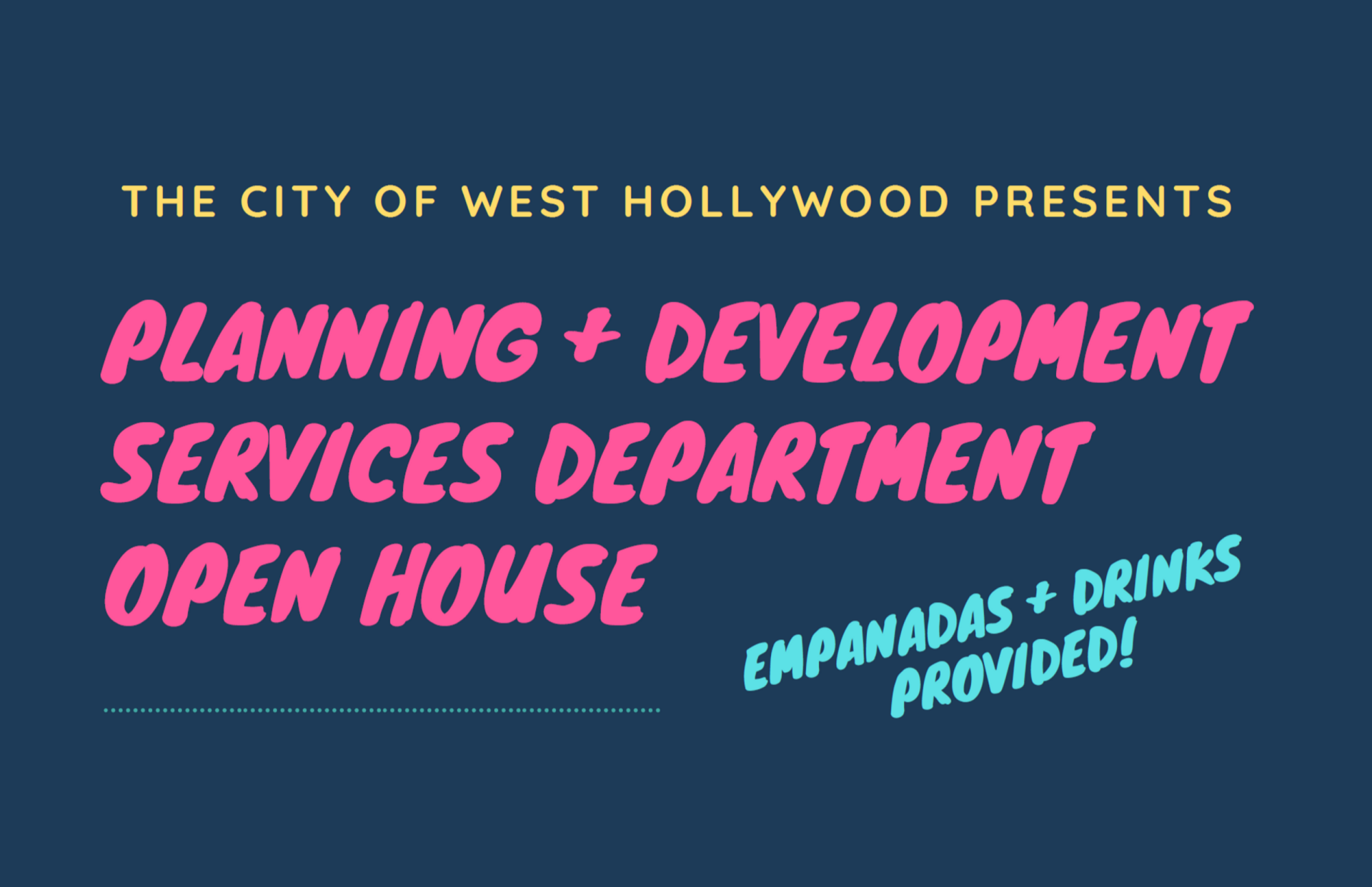 City to Host Planning & Development Services Open House