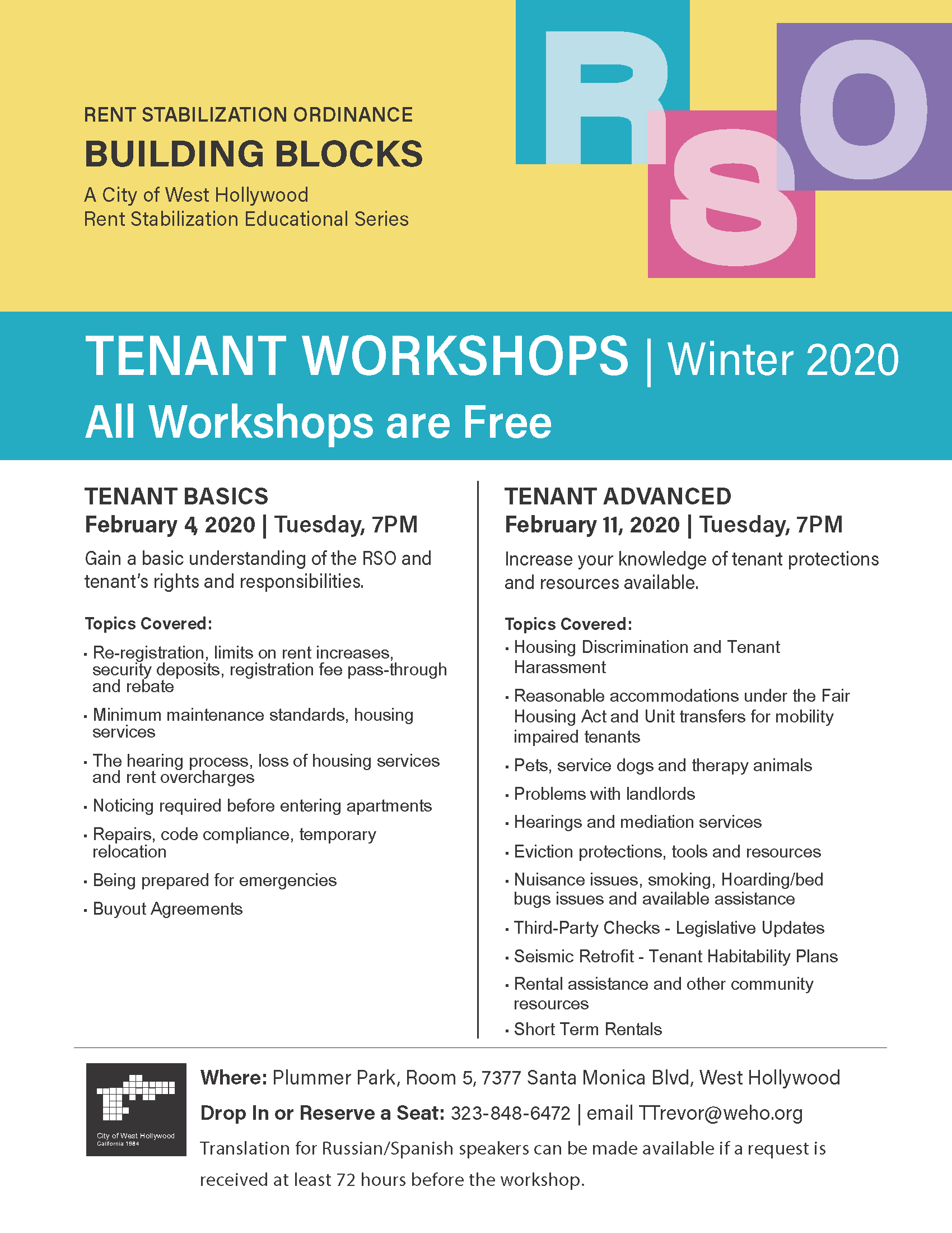 Building Blocks FEBRUARY 2020  FLIER - TENANT