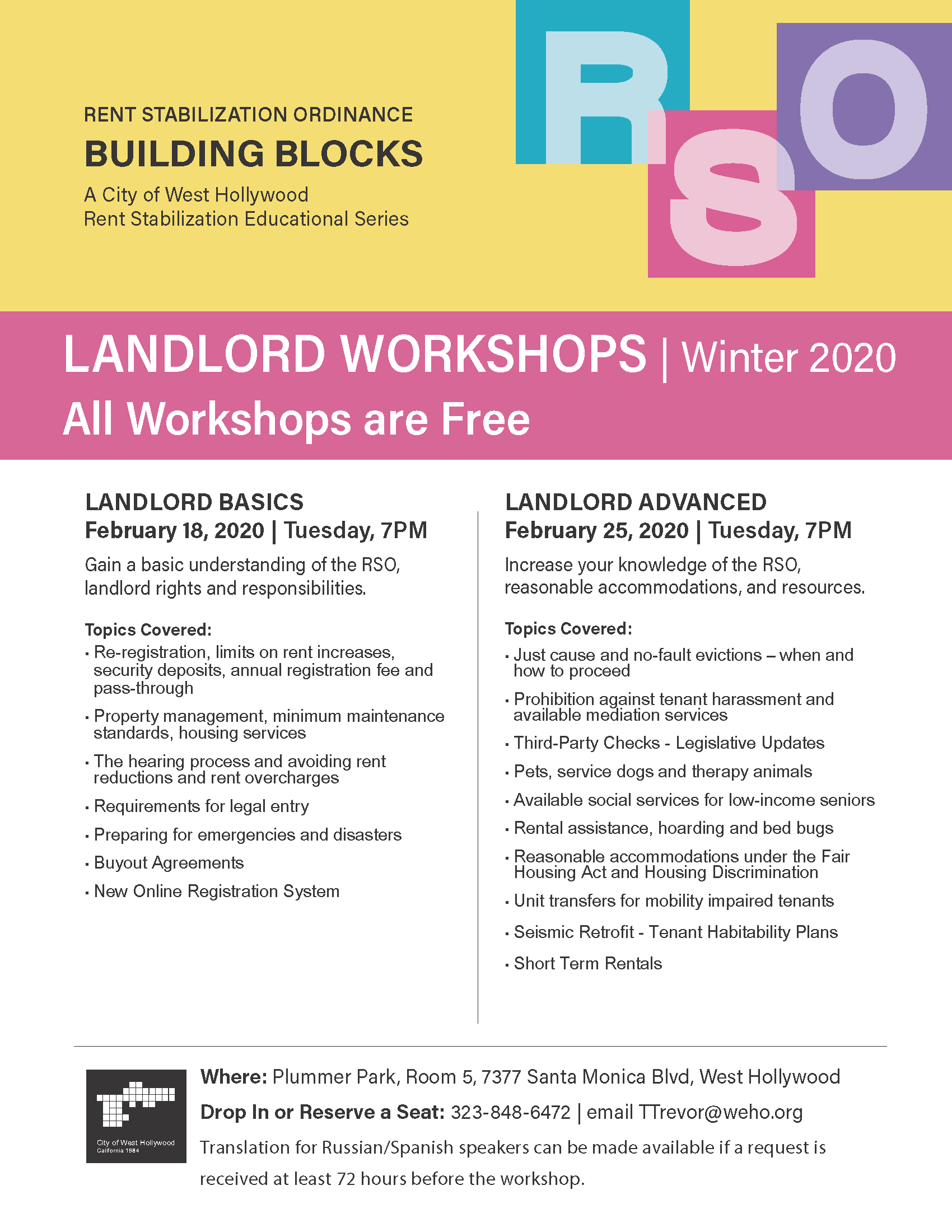 Building Blocks FEBRUARY 2020 FLIER - LANDLORD