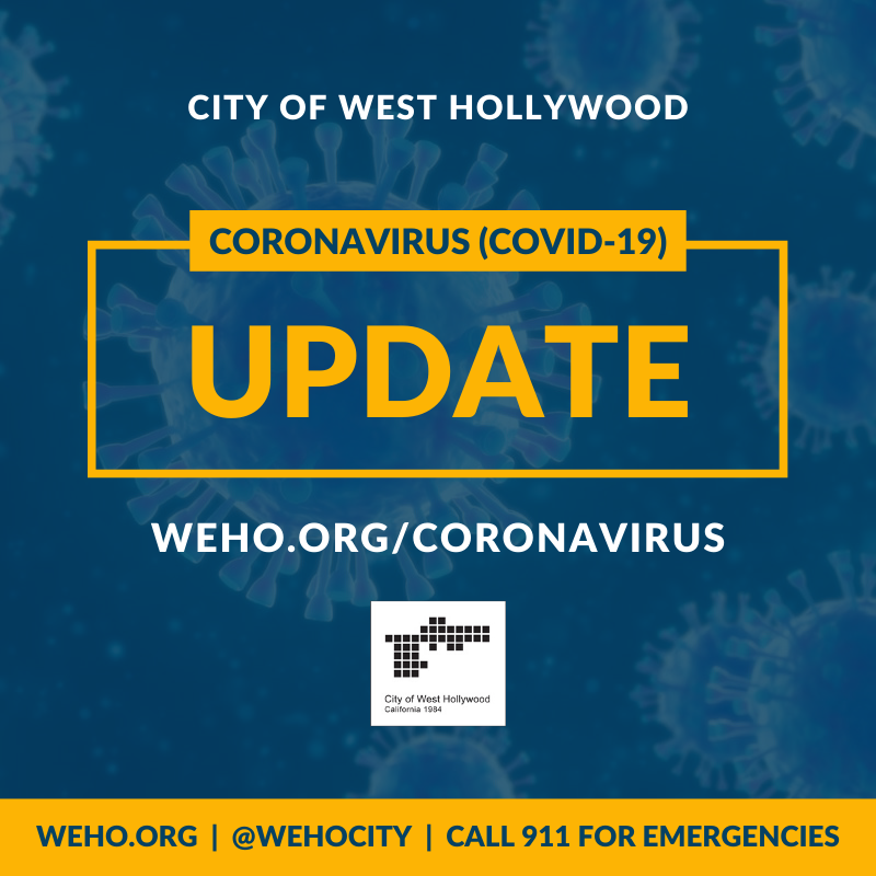City of West Hollywood Update:  LA County Public Warning about Coronavirus Scams