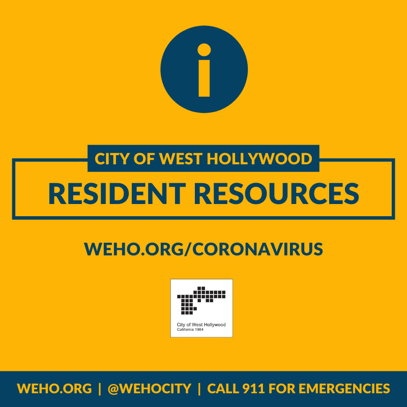 City Of West Hollywood Update Eviction Moratorium For Renters In Hardship Due To Coronavirus Emergency News And Updates City Of West Hollywood