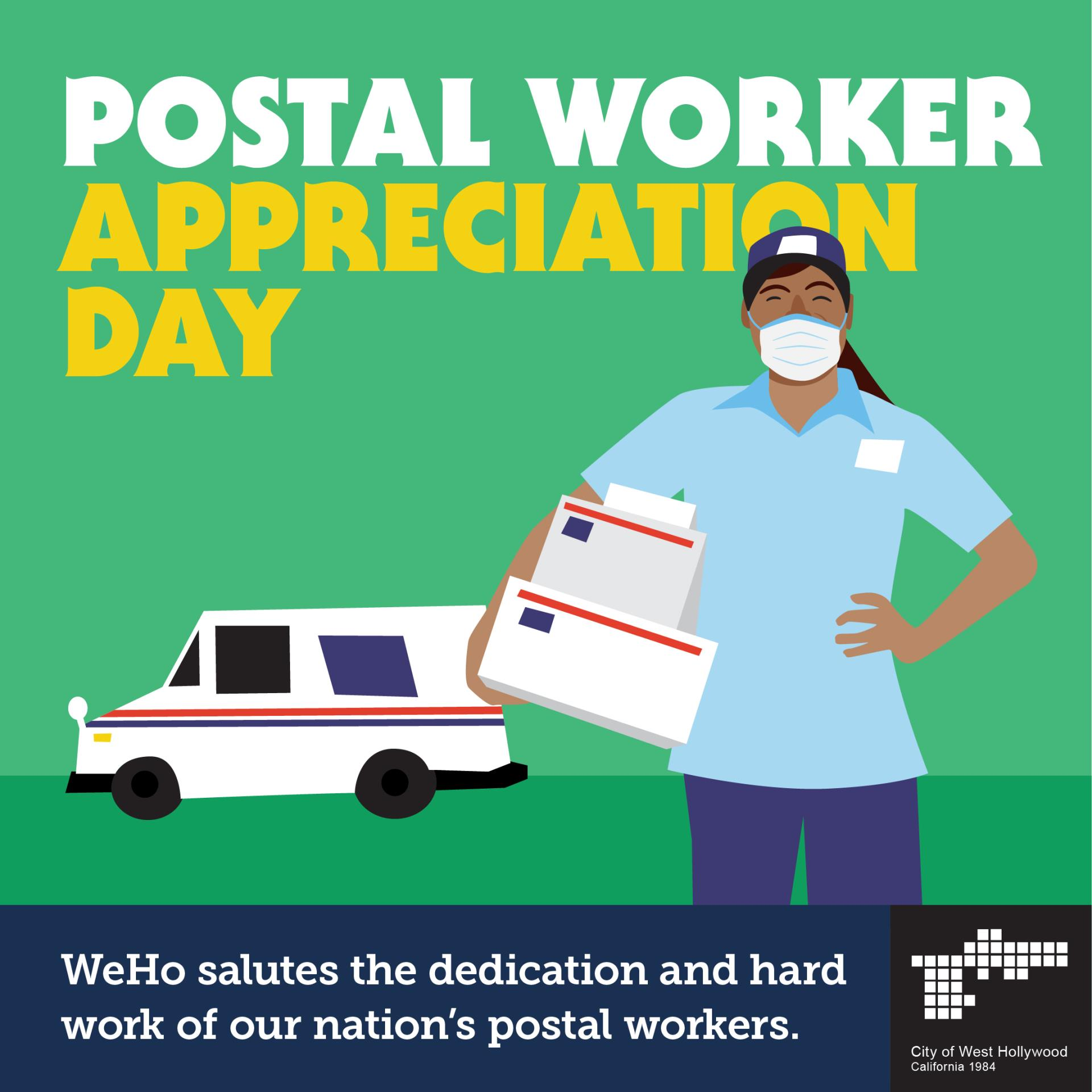 City will Celebrate Postal Workers on the Frontlines of the Coronavirus Pandemic On Postal Worker Ap...
