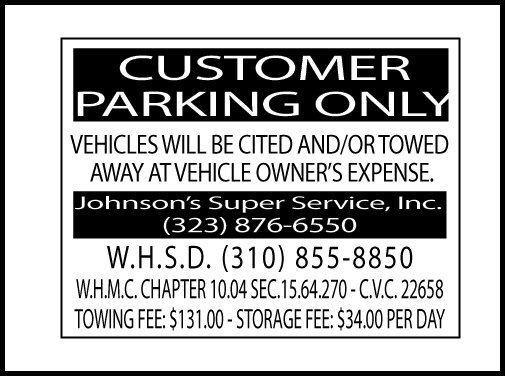Parking Tow Sign