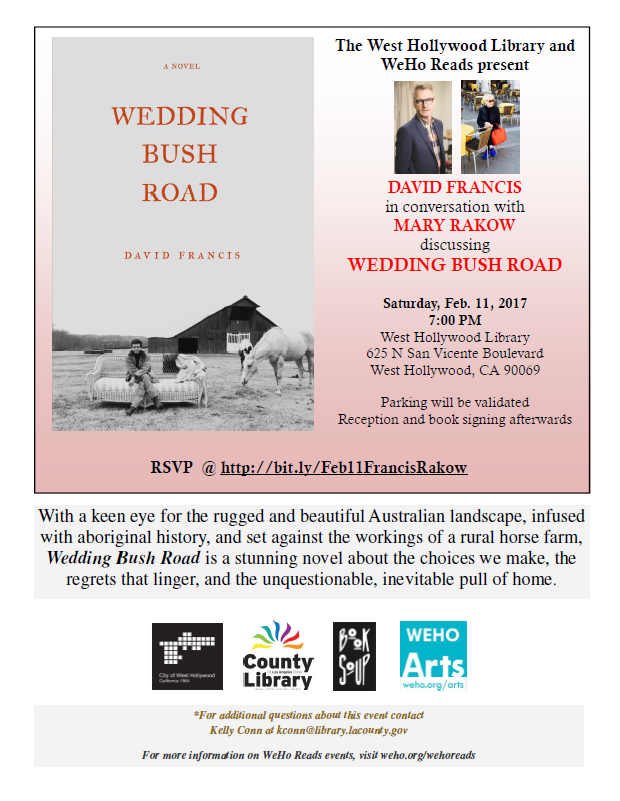 WeHo Reads - David Francis and Mary Rakow