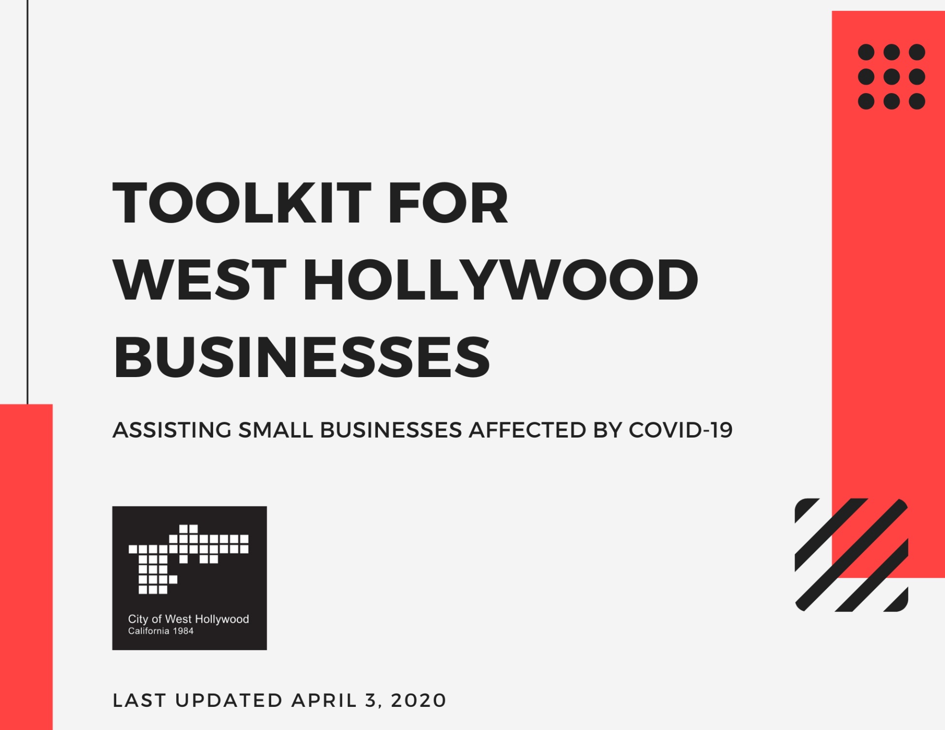 Resource Toolkit for WeHo Businesses